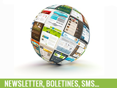 Newsletter, boletines, sms...