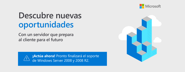 Finaliza el soporte para Windows Server 2008 y 2008 R2