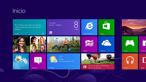 Interfaz metro Windows 8