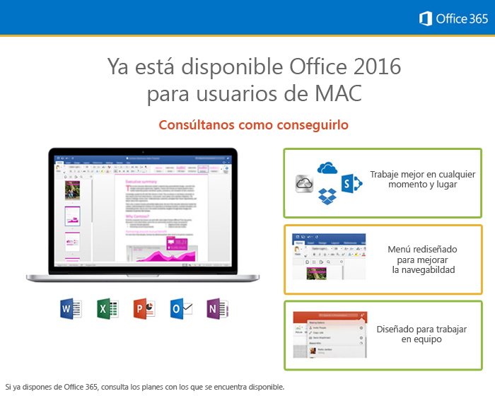 Descubre la nueva version de Office 2016 para Mac