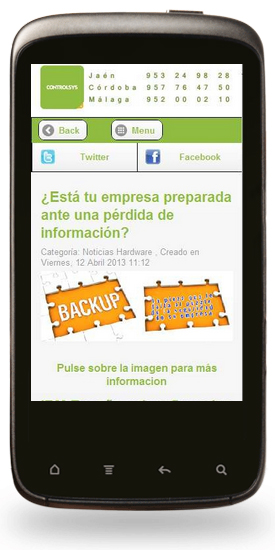 Web movil Controlsys
